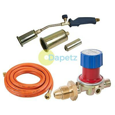 Propane Butane Gas Torch Burner Hose Regulator Blow Roofers Plumbers Kit 5 Metre