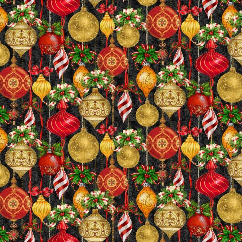 Christmas Legend-Henry Glass-Fat Quarter-Christmas Ornaments