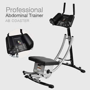 Abs Abdominal Coaster Core Exercise Machine Ab Crunch Muscle Tone Cardio Workout