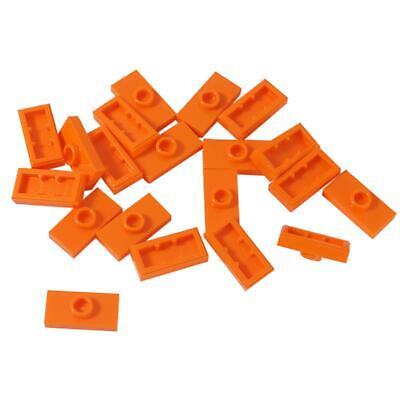 20 NEW LEGO Plate,Modified 1 x 2, 1 Stud , Groove and Bottom Stud Holder  Orange