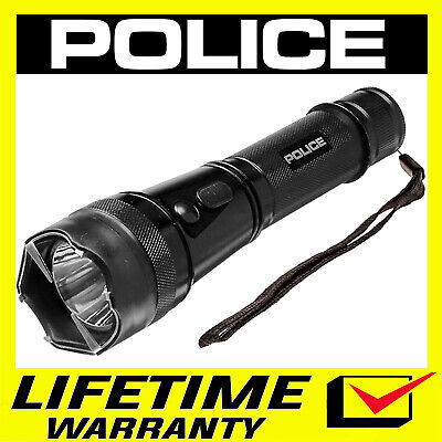 Police Metal Stun Gun 1901 650 Bv Heavy Duty Rechargeable Led Flashlight