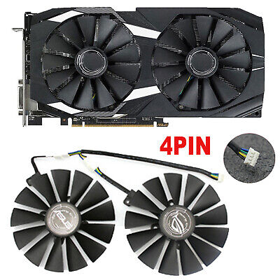 For ASUS DUAL-RX580-8G Graphics Card Cooling fan 95mm 13 fan Blade 4PIN Replace