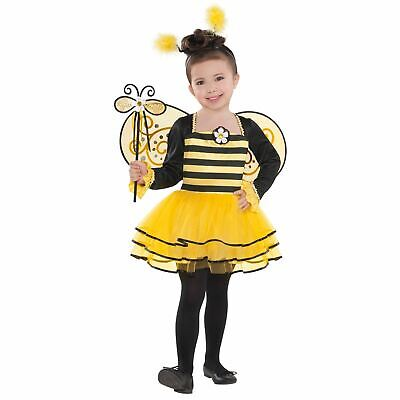 Girls Bumble Bee Costume Kids Insect Fancy Dress Cute Animal Fairy Wand Wings