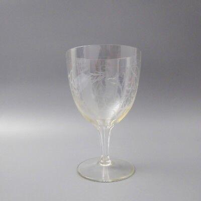 Graviertes Wein-glas (4 STÜCK Theresienthal Kristallglas Weinglas graviert mit Zweigen Blüten   (D))