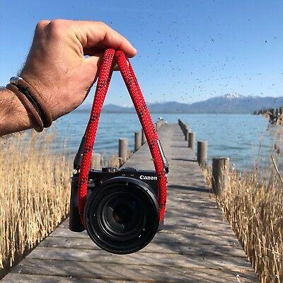 Kameraband Kameraseil Schultergurt Tragegurt Kameragurt Camera Strap red 120cm