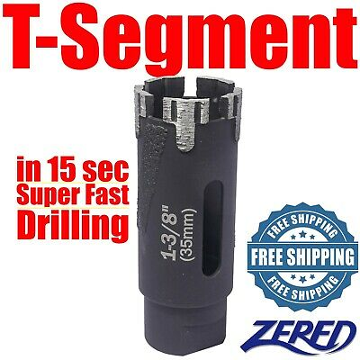 Zered T-segment 2 Drywet Core Bit Granitehard Stone Vacuum Brazed Steel
