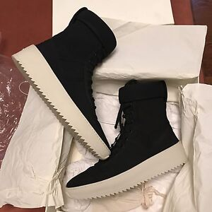 Fear Of God Military Boots Black and White