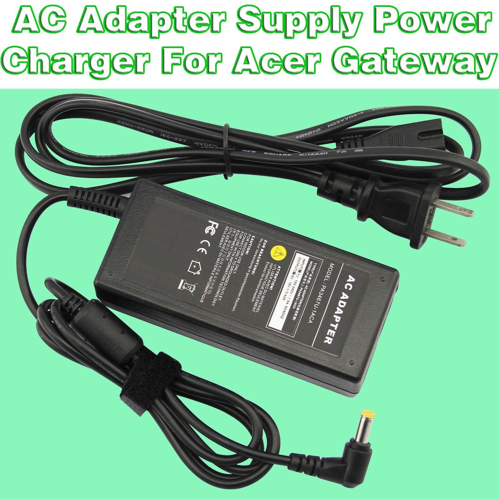 19V 3.42A 65W Laptop AC Adapter Supply Power Charger for Ace