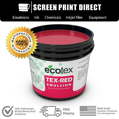 Ecotex Tex-red - Textile Pure Photopolymer Screen Printing Emulsion -all Sizes
