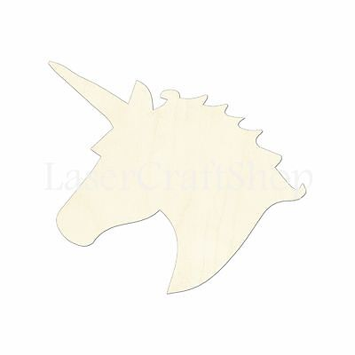 Unicorn Head, Wooden Cutout Shape, Silhouette, Tags Ornaments Laser Cut - Unicorn Cutout