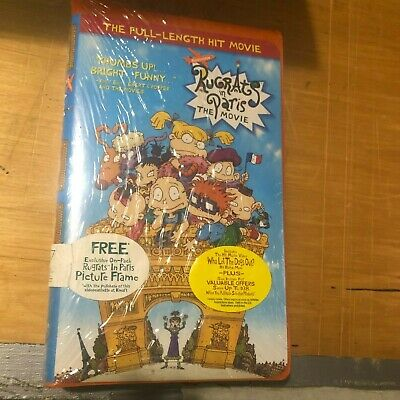 RUGRATS IN PARIS-The Movie w/Special Photo Frame-VHS Clamshell Video -NEW+Sealed
