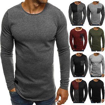 Strickpullover Pullover Longsleeve Stricken Sweater Pulli Herren OZONEE 1165 MIX