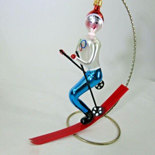 "vtg 1994 Italian Christopher TOMBA Olympic Skiier X-mas Ornament 94-279-0 BIG 7"""