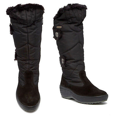 Faux Snow (Pajar Carmin Waterproof Faux Fur Quilted Nylon Suede Zip Snow Boots Womens)