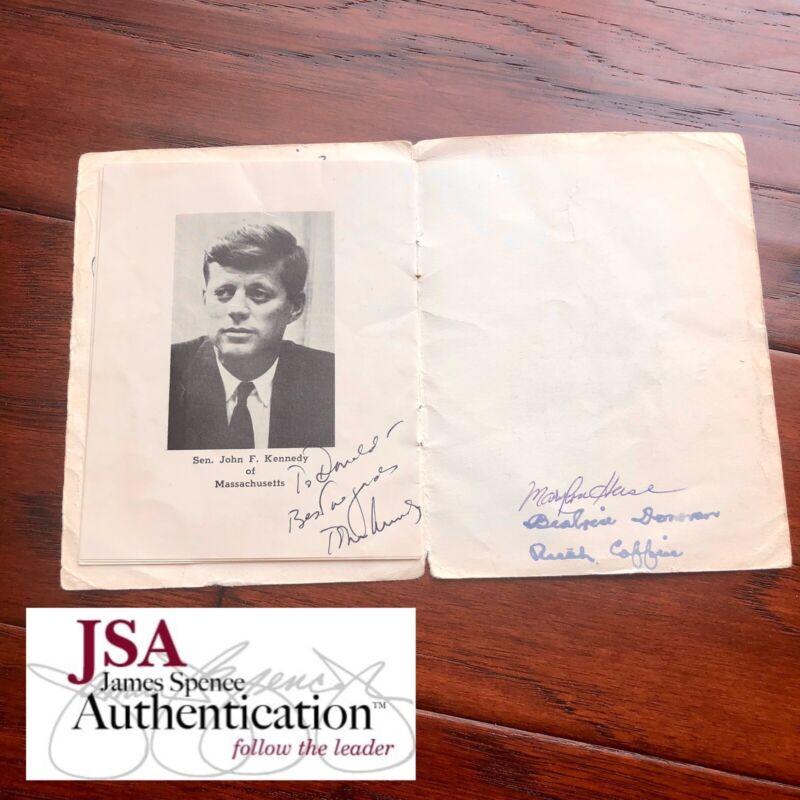 JOHN F. KENNEDY * JSA LOA * Autograph Photo Signed As Senator In Dinner Program