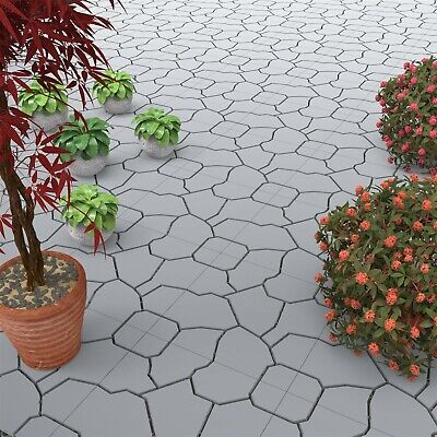 Outdoor Patio Deck Snap Tiles 11.5 x 11.5 Set of 30 Water Drainage Faux -