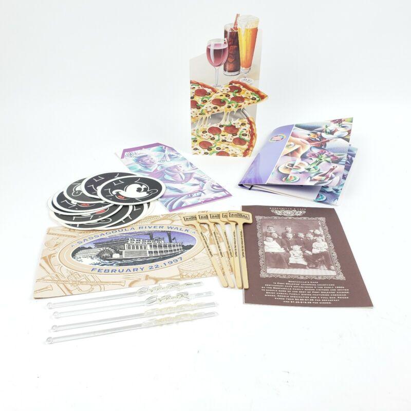 Vtg Disney Lot Menus, Swizzle Sticks, Coasters & More