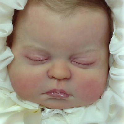 Handmade Lifelike Realistic Sleeping Newborn Vinyl Silicone Reborn Baby Dolls US