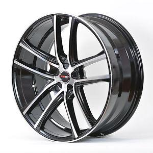 4 GWG Wheels 18 inch Black Machined ZERO Rims fits 5x110 CHEVY HHR 2006 - 2011