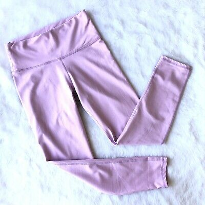 Fabletics XS Crop Leggings High Rise Light Purple Pink Yoga Gym