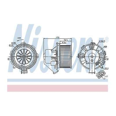 Fits VW Crafter 2.5 TDi Genuine Nissens Interior Heater Blower Motor Fan