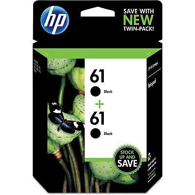 HP Inc. HP 61  2-pack Black Original Ink Cartridges