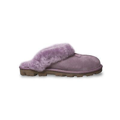 UGG COQUETTE SHADOW SHEEPSKIN SUEDE SLIP ON WOMEN'S SLIPPERS SIZE US 7/UK 5 NEW