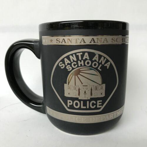 SANTA ANA SCHOOL POLICE DEPARTMENT PORCELAIN MATTE BLACK COFFEE MUG NEW