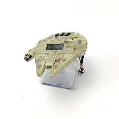 Star Wars Night Glow Millenium Falcon Alarm Clock Radio Night Light