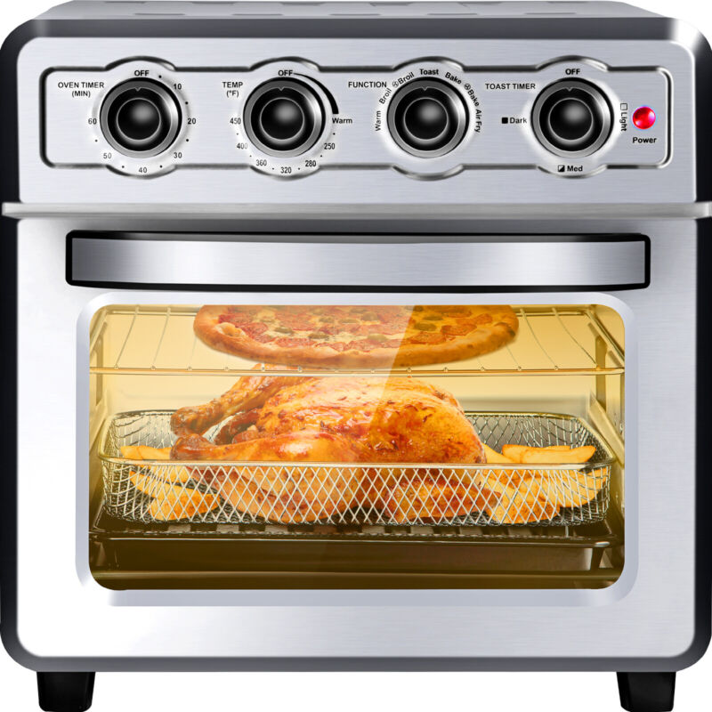 VEVOR Convection Oven Air Fryer 7-in-1 Kitchen Oven 18QT 6 Slice4 Accessories