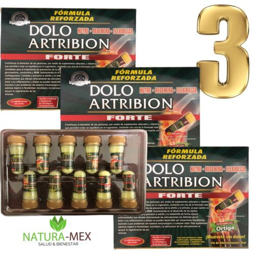 3 Pack‼️DOLO ARTRIBION Liquid 30 Ampolletas 15 ml each Support Joints B12 Exp 24