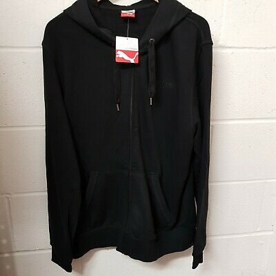 Mens Puma Hoodie Black Size XL Zip New £20