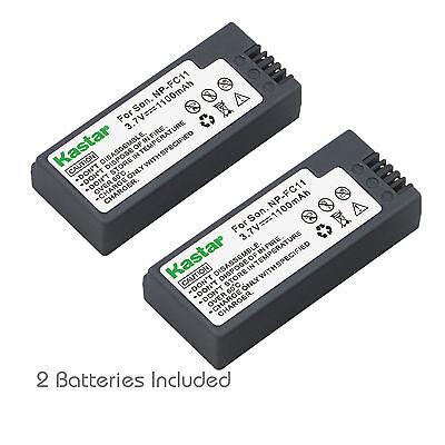 P10 P8 P7 Dsc V1 (2x Kastar Battery for Sony NP-FC11 FC10 DSC-P12 P10 P9 P8 P7 P5 P3 P2 F77 V1)
