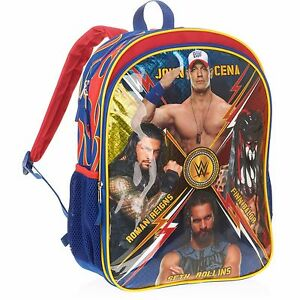 WWE John Cena Backpack Finn Balor Roman Reigns Seth Rollins School Bag