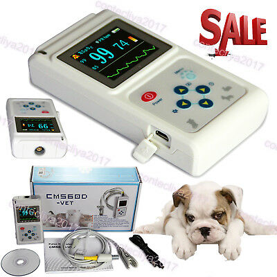 Veterinary Pulse Oximeter Spo2 Heart Rate Monitor Vet Eartongue Probe Software