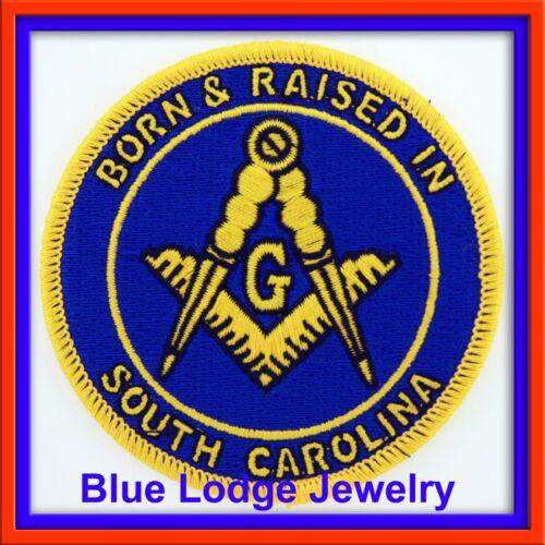 Master Mason Born & Raised in South Carolina Masonic Patch