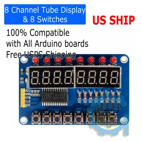 8-Bit LED Digital Tube Display 8 Switches TM1638 Display module for AVR Arduino