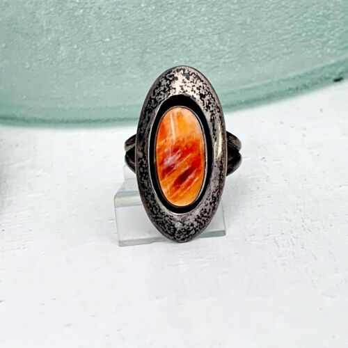Navajo Sterling Silver 925 Spiny Oyster Native American Southwest Size 5 Ring