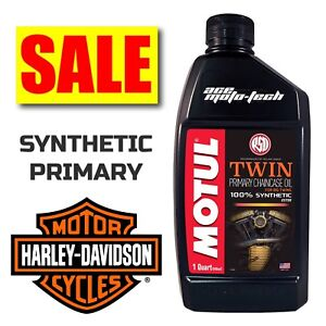 ★ SALE ★ Motul V-Twin PRIMARY OIL / Fluid ★ 100% FULL SYNTHETIC