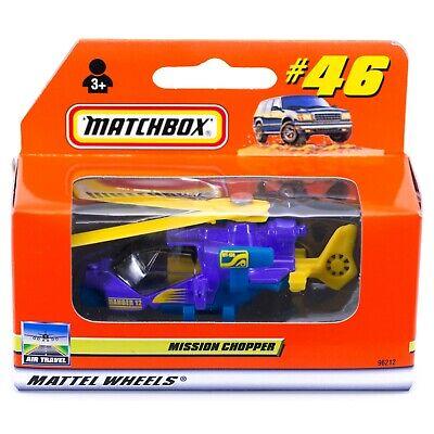 Matchbox #46/66 Mission Chopper Purple Helicopter International Box 2000