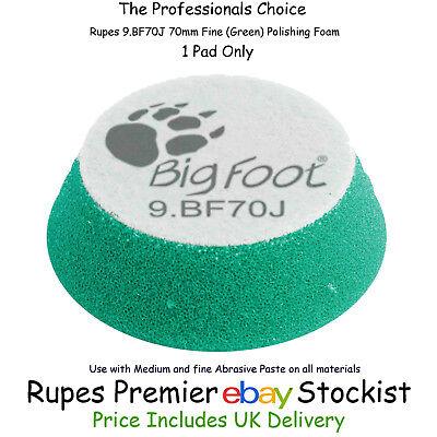 Rupes Bigfoot Green Medium Polishing Pad 50//70mm Foam Hook On 9.BF70J 4 Pack
