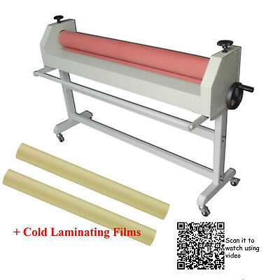 511300mm Cold Laminator Pro. Laminating Kit2 Rolls 1.4x54.6yd Satin Film