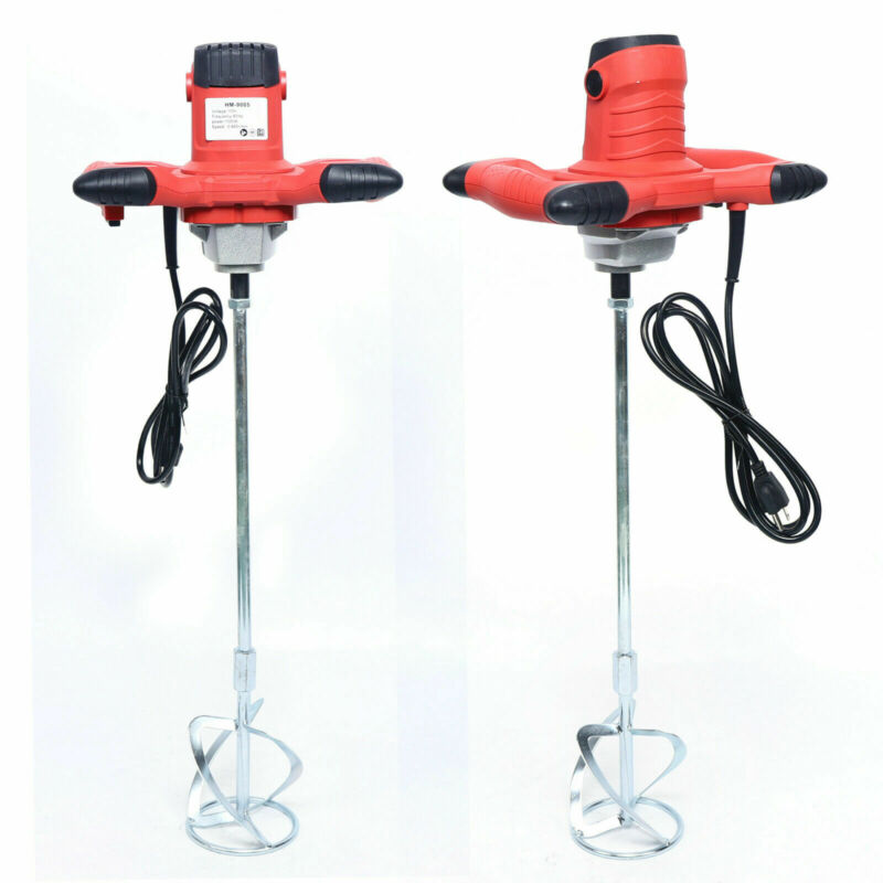 6 Speed Industrial Electric Cement Paint Putty Powder Coating Mixer Single Rod