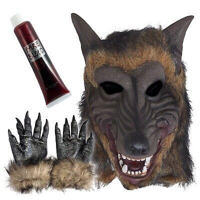 Werewolf Terror Realista Látex Máscara de Lobo Halloween Fiesta Disfraces - Lobo Halloween Costume