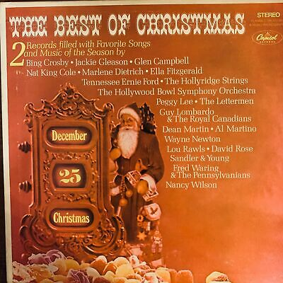 THE BEST OF CHRISTMAS 2X VINYL LP ALBUM 1968 CAPITOL RECORDS VARIOUS ARTISTS