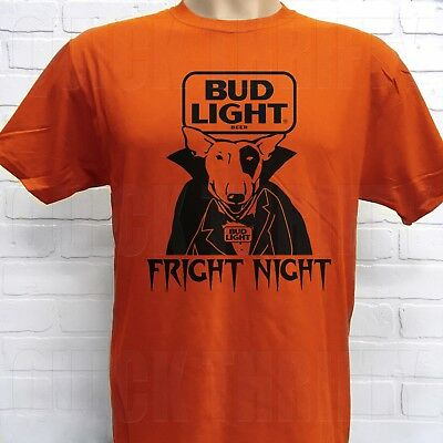 RETRO BUD LIGHT SPUDS MACKENZIE *FRIGHT NIGHT* HALLOWEEN T-SHIRT - Fright Halloween