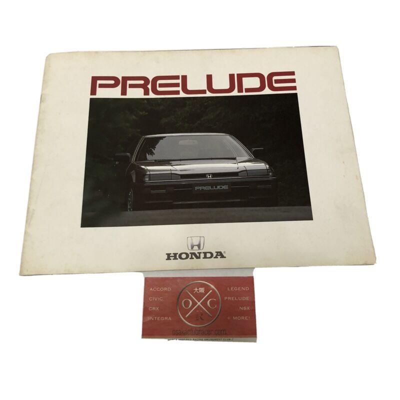 83-87 Honda Prelude JDM Catalog Brochure 2G 84 85 86 Rare OEM Xx XC XZ 2.0Si BA1