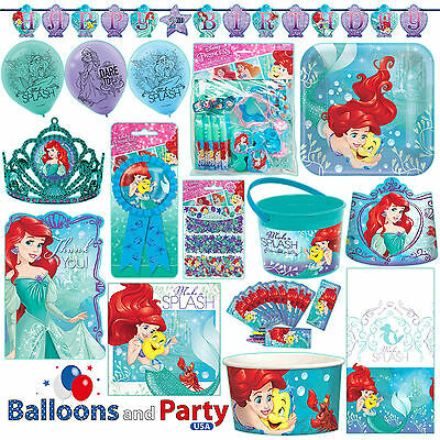 Disney Princess Ariel Mermaid Birthday Party Tableware Decorations - Ariel Birthday Party