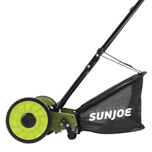 Sun Joe Mow Joe 16-IN Manual Reel Mower with Catcher - MJ500