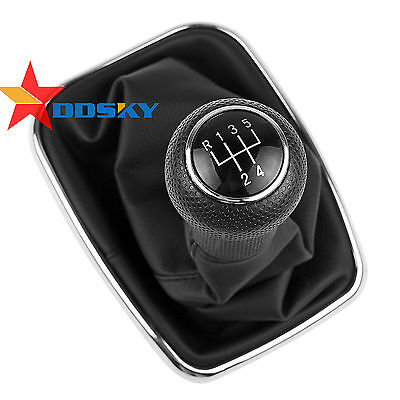 Manual Gear Stick/Shift Gaiter Boot Lever Knob 5-Speed for VW POLO GOLF MK4 Bora
